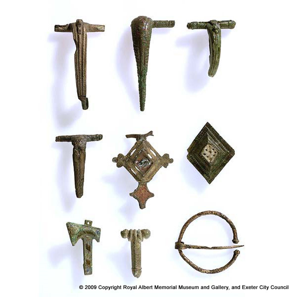 Selection of Roman brooches