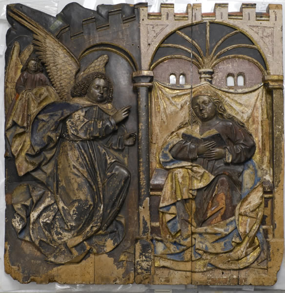Gallery 10 - Case Histories: Carved Annunciation Panel