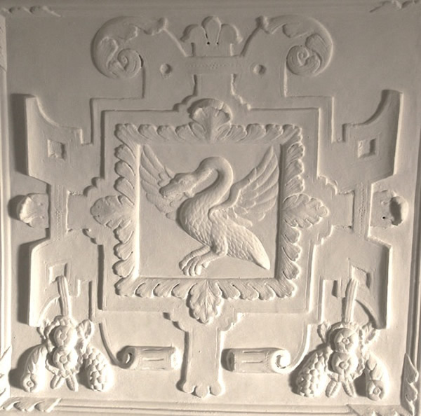 Newton Abbot: Old Forde House - plasterwork ceilings and friezes