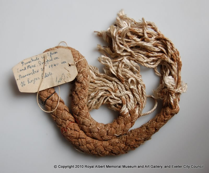 Cord from a parachute mine