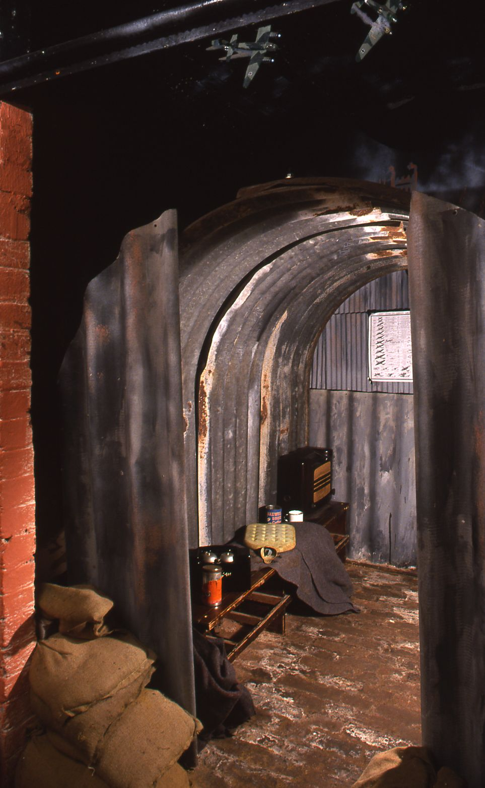 Second World War Anderson shelter