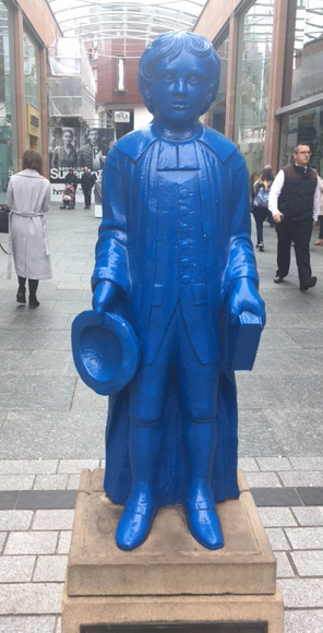 8. The Blue Boy Statue, Princesshay, Exeter